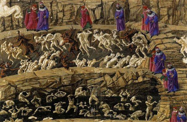 Botticelli's Canto XVIII